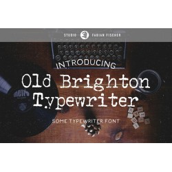 Old Brighton Typewriter - Font