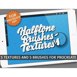 Halftone textures/brushes -...