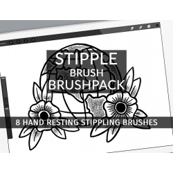 Stipple Brush Brushpack for...