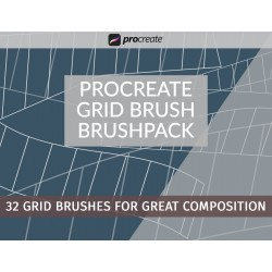 Procreate Grid Brush Brushpack