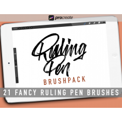 Ruling Pen Brushpack for...