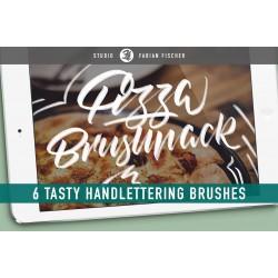 Pizza Handlettering Brushpack