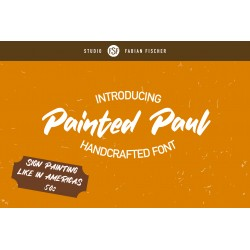 Painted Peter - Handmade Font